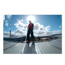 Rooftop safety harness - Postcards (Pk of 8)