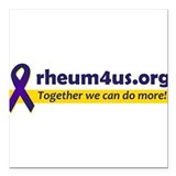 "Awareness Ribbon / Tagline Square Car Magnet 3"" x"