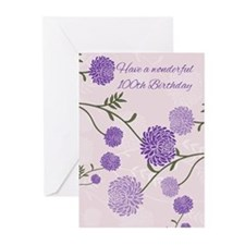 100th Birthday Greeting Card (Pk of 10)
