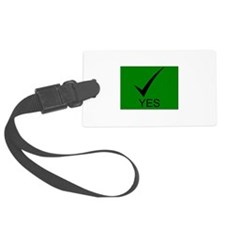 Yes Symbol with Checkmark Luggage Tag
