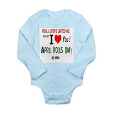 April Fools Day Wife Long Sleeve Infant Bodysuit