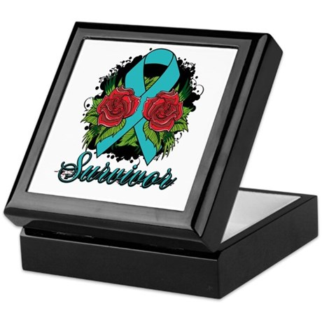 Interstitial Cystitis Survivor Rose Tattoo Keepsak