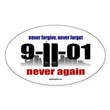 9-11-01 Memorial Oval Decal Decal