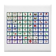 8x8 Picture Communication Board Tile Coaster