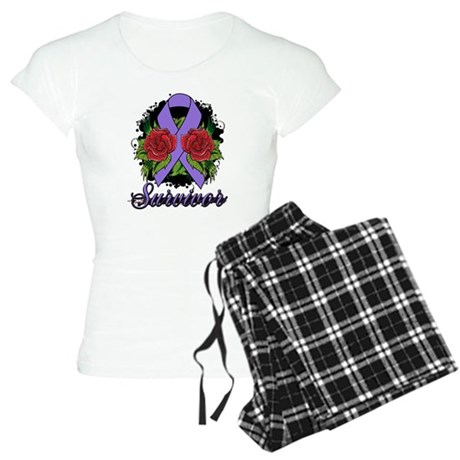 Hodgkins Lymphoma Survivor Rose Tattoo Women's Lig