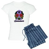 Hodgkins Lymphoma Survivor Rose Tattoo pajamas