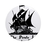 Pirate ship in Puerto Rico Ornament (Round)