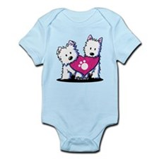 Valentine Westies Infant Bodysuit