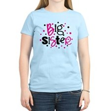 BIG SISTER pink black polkadot T-Shirt