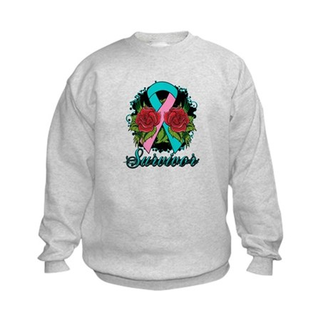 Hereditary Breast Cancer Survivor Kids Sweatshirt