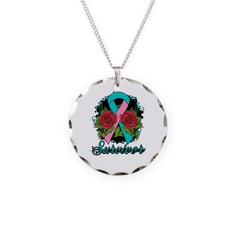 Hereditary Breast Cancer Survivor Necklace Circle