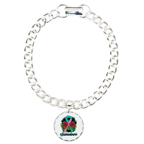Hereditary Breast Cancer Survivor Charm Bracelet,
