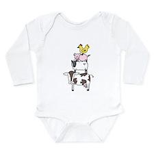 Farm Pyramid Long Sleeve Infant Bodysuit