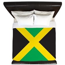 Cute Jamaican flag King Duvet