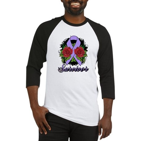 General Cancer Survivor Rose Tattoo Baseball Jerse