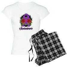 Fibromyalgia Survivor Rose Tattoo pajamas