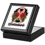 Endometrial Cancer Survivor Rose Tattoo Keepsake B