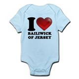 I Heart Bailiwick of Jersey Infant Bodysuit