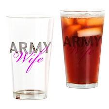 DCU Army Wife Drinking Glass