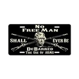 No Free Man Aluminum License Plate