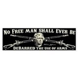 No Free Man Bumper Sticker