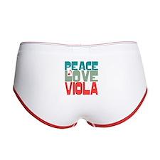 Peace Love Viola Women's Boy Brief