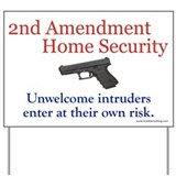 Security 2nd amendment Yard Signs
