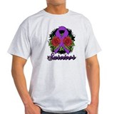 Crohns Disease Survivor Rose Tattoo T-Shirt
