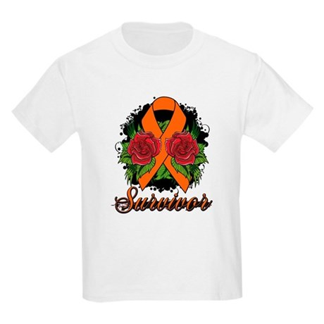 COPD Survivor Rose Tattoo Kids Light T-Shirt
