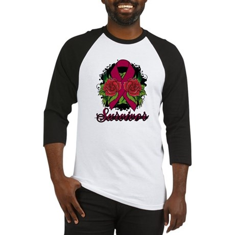 Brain Aneurysm Survivor Rose Tattoo Baseball Jerse