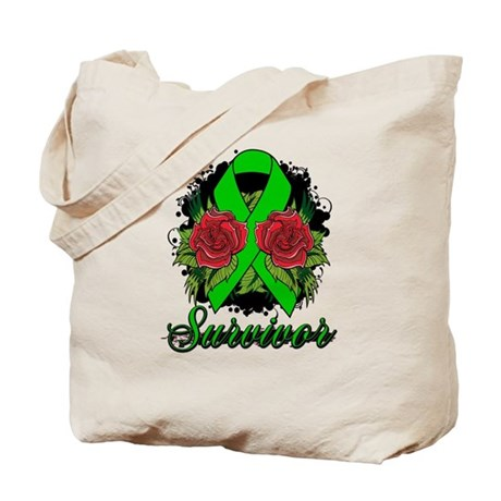Bile Duct Cancer Survivor Rose Tattoo Tote Bag
