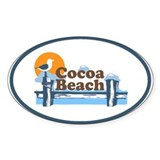 Cocoa Beach - Pier Design. Decal