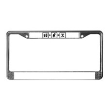 Classical Guitar Player License Plate Frame