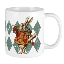 Alice White Rabbit Vintage Mug