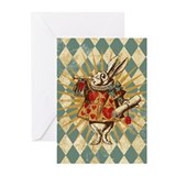 white-rabbit-vintage_13-5x18.jpg Greeting Cards (P