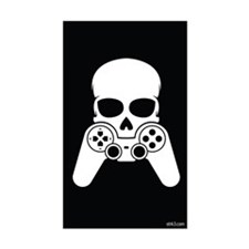 Skull & Joystick Rectangle Decal