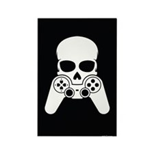 Skull & Joystick Rectangle Magnet