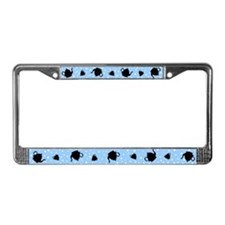 Tumbling Tea Party License Plate Frame