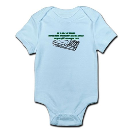 She is quite the oddball. Did you notice how she didn't even get excited when she saw this original ZH81? The I.T. Crowd onesie