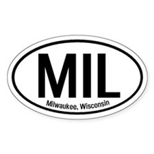 Milwaukee, Wisconsin Oval Decal