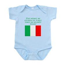 Italian Proverb Enemies Friends Infant Bodysuit