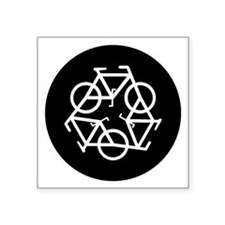 "ReBicycle Square Sticker 3"" x 3"""