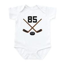 Hockey Player Number 85 Infant Bodysuit