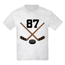 Hockey Player Number 87 T-Shirt