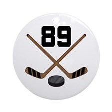 Hockey Player Number 89 Ornament (Round)