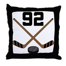 Hockey Player Number 92 Throw Pillow