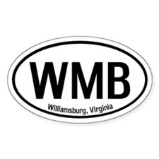 Williamsburg, Virginia Oval Decal