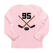 Hockey Player Number 95 Long Sleeve Infant T-Shirt