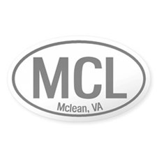 Mclean, VA Oval Decal