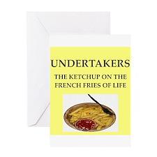 undertaker Greeting Card